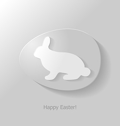 bunny in egg vector image