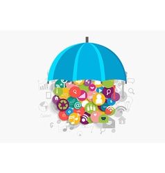 Business concept with cloud of application vector
