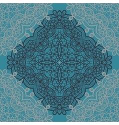 Carpet mandala print vector