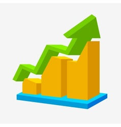 Chart icon arrow up statistic sign vector