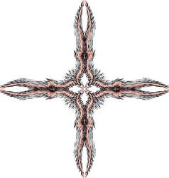 Cross of fractal 1 vector image