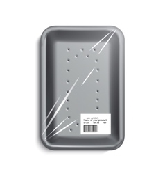 empty wrapped food tray vector image