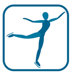 figure skating emblem vector image
