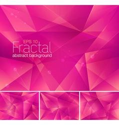Fractal magenta vector