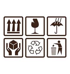 Fragtile symbols vector image