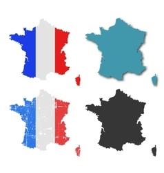 France silhouette set vector