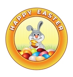 Happy Easter Badge Ready for Text and Design vector image