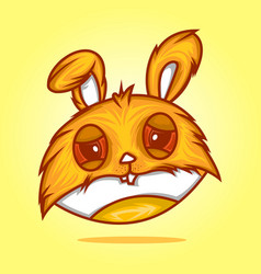 head rabbit vector image vector image