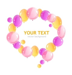 Holiday frame with colorful balloons vector image vector image