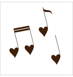Love melody isolated on white vector
