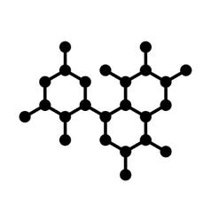 Molecule DNA Structure Icon vector image