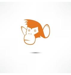 Monkey icon vector