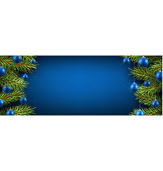 New Year banner with Christmas balls vector image