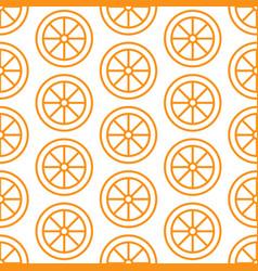 orange slice seamless pattern background vector image vector image