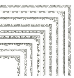 ornamental frame corners and borders vector image vector image
