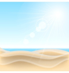 Sand beach background vector image vector image
