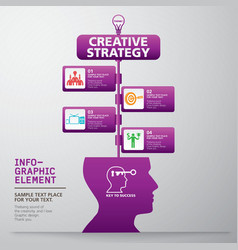 template modern info-graphic design vector image