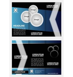 Tri-fold brochure layout design template vector