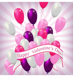 Valentine balloons background vector