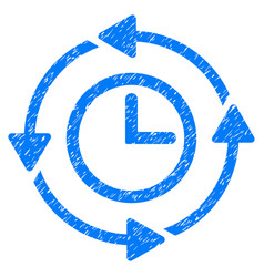 wayback clock grunge icon vector image