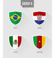 Brazil Soccer Championship 2014 Group A flags vector image