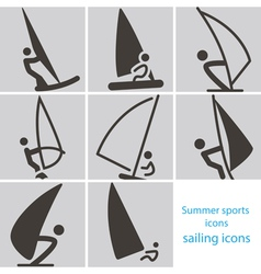 2267 sailing icons vector image