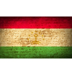 Flags tajikistan with dirty paper texture vector