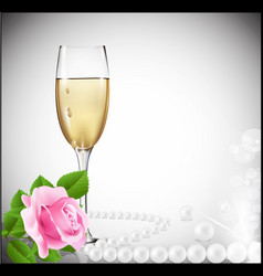 Congratulatory champagne background vector