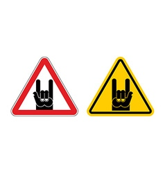 Warning sign of attention rock music rock hand vector