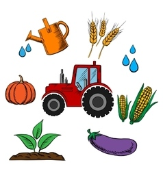 Agriculture industry and farming food vector