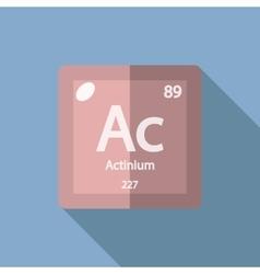 Chemical element actinium flat vector