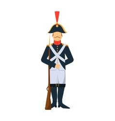 French troop old style armed forces man with vector image