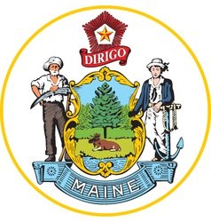 Maine seal vector