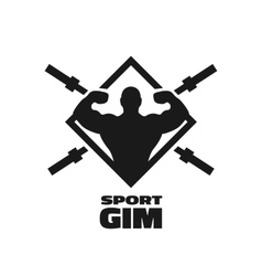 Bodybuilding and fitness sport gym symbol vector image