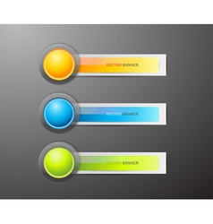 Buttons and labels vector