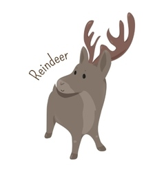 Reindeer isolated child fun pattern icon vector