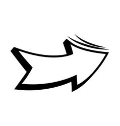 Arrow pop art icon vector
