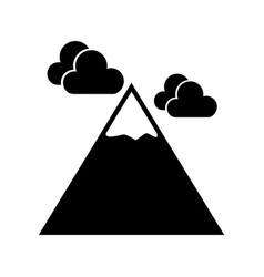 Black icon mountain cartoon vector