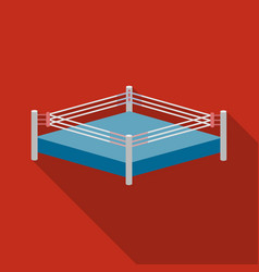 Boxing ring icon in flate style isolated on white vector