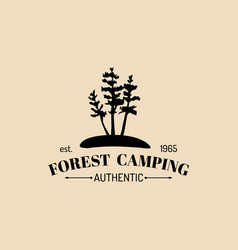 camp logo tourist sign with hand drawn vector image vector image