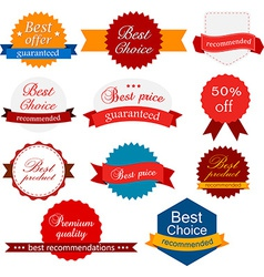 Collection of award badges vector image vector image