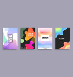 design creative covers set vector image vector image