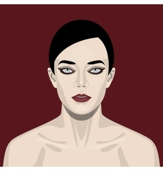 Fashion beauty woman with smoky eyes vector