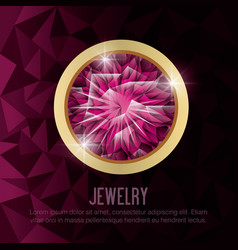gems jewelry gold isolated vector image