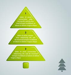 Green christmas tree infographic style vector