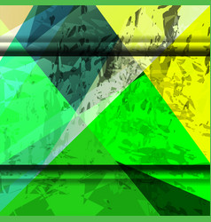 grunge shape green background vector image