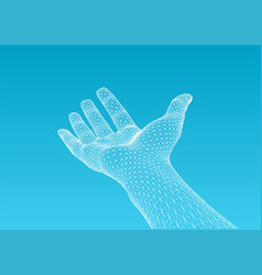 hand offering vector image vector image