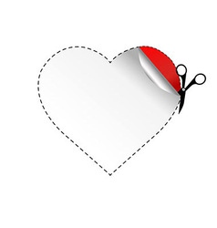 Heart And Scissors vector image