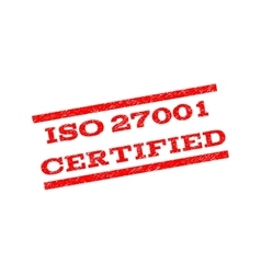 Iso 27001 certified watermark stamp vector