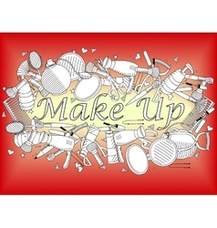 Make up coloring book vector image vector image